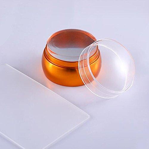 Professionele stamper voor nagelkunst en schraper, trekker voor nagelbeeld, duurzame afbeelding Metaal Goud