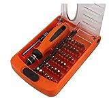 Kit Destornilladores 38 Piezas Multifuncional Destornillador Combinación Apple Teléfono Digital Reloj Digital Reparación Ciruelo Arroz (Color : Orange)