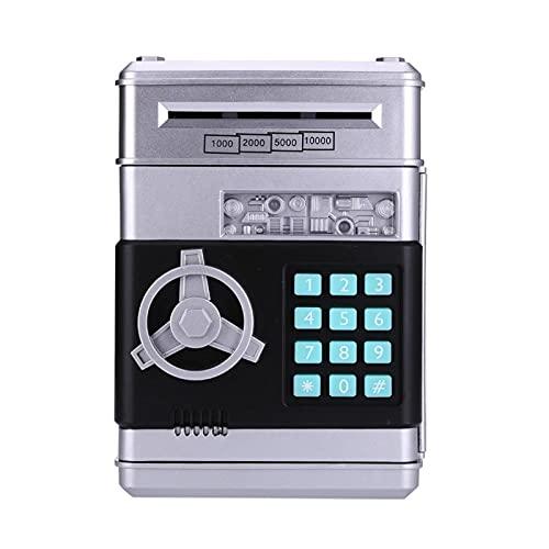 Electronic Piggy Bank ATM Password Money Box Cash Monedas Ahorro Caja ATM Banco Automático Depósito Caja Seguridad Caja de Seguridad Regalo Dropshipping (Color : Grey)