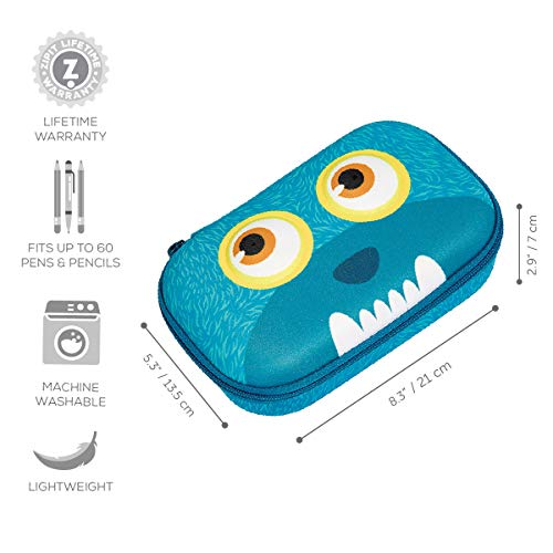 ZIPIT Wildlings Pencil Case/Pencil Box/Storage Box, Blue Photo #3