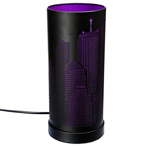 Lampe new york cylindrique Violet/Noir
