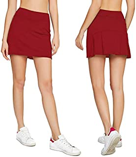Cityoung Women's Casual Pleated Tennis Golf Skirt with...