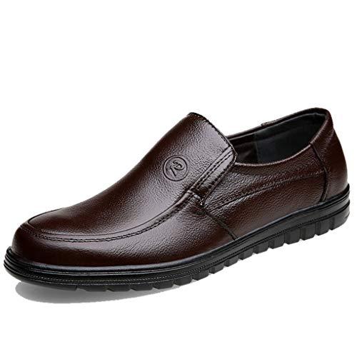 Generic Männer Business Flats komfortable Slip auf Leder Loafers Business Office Casual Kleid Schuhe Mokassins