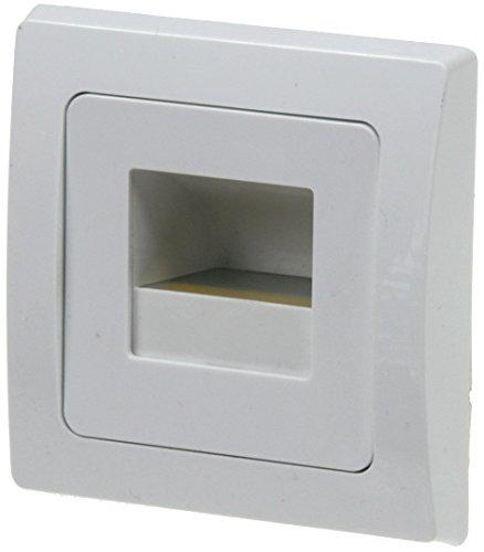LED Wand EinbauLeuchte DELPHI COB Unterputz 1,5Watt 110Lumen für UP Dosen I Lichtfarbe Warmweiß I Gehäuse Weiß