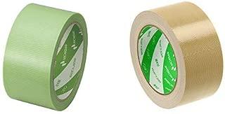 ニチバン フィルムクロステープ 養生テープ No.187 50mm×25m 緑 187-50 &  布テープ 50mm×25m巻 121-50 黄土