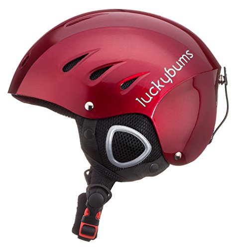 Lucky Bums Snow Sport Helmet, Red, Large
