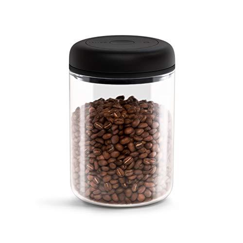 Fellow Vakuumbehälter zur Aufbewahrung von Kaffee und Lebensmitteln, integrierte Vakuumpumpe, hermetische Abdichtung 1,2 Liter Sauberes Glas