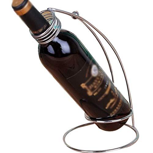 Pyrojewel Estante de la botella de vino mobiliario for hoteles Europea estante estante del vino del hierro forjado Moda estante del vino del hierro, Frasco individual Holder encimera pequeño estante d