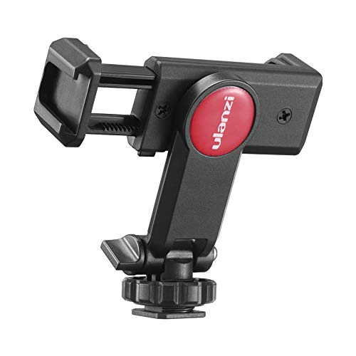 ULANZI スマートフォン三脚マウント 360度回転 角度調整 コールドシューマウント スマートフォン三脚マウント スマホクランプブラケット 付き1/4スレッド 三脚 自拍棒 相機适用
