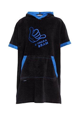 Revise Poncho de surf con capucha – albornoz – toalla de baño – poncho – Mujer Hombre Niños – Fibra de bambú negro/azul small