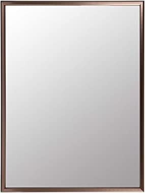 WZYY Miroir pour Salle De Bain à Cadre en Aluminium/Grand Miroir Mural à Cadre Plat/Suspension Rectangulaire IntéGrale Ou Pou