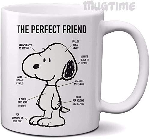 Lustige Kaffeetasse Teetasse Peanuts - Snoopy - Perfect Friend - Kaffee Tee Tasse - Keramik - Geschenk ...