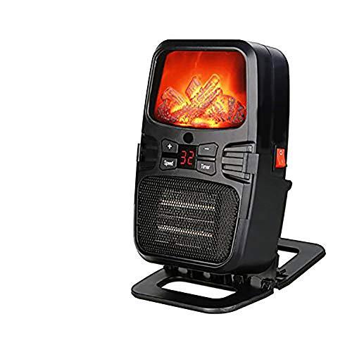 Calefactor Eléctrico Chimney Termoventilador, 1000W, Estufa Cerámica Efecto Chimenea Portátil Bajo Consumo,...