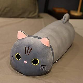 25-100 cm Creatieve schattige Liggende Kat Pluche Zacht Kussen Leuke Knuffel Speelgoed Pop Mooi Speelgoed voor Kinderen me...