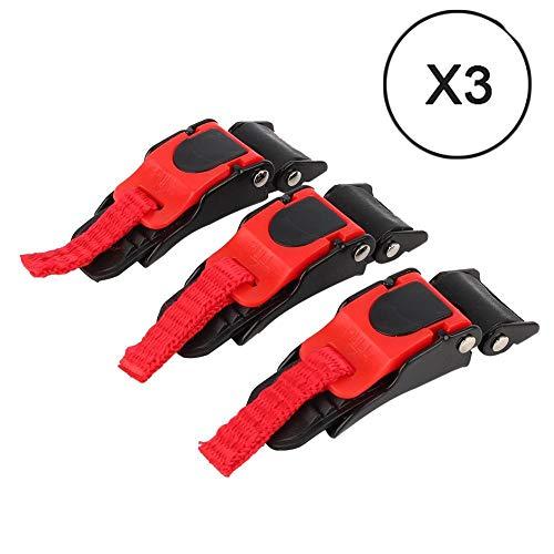 Vracingpro X3 Haken Verschluss für Motorradhelm, mikrometrisch und Stoppuhr, Schnalle mit Klettverschluss, sehr sicher, für alle Arten von Universal-Helm