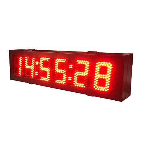 WyaengHai Countdown-Uhr Intervall-Timer Riesige Elektronische Uhr Wanduhr Zählen Training Turnhalle Stoppuhr Geeignet für Fitness-Studio Fitness (Farbe : Schwarz, Größe : 71X20X6CM)