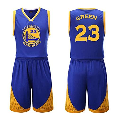 Warriors # 23 Verde Sportweste Kurze Hose Basketball Jersey Zweiteiliges Set, Mann äRmellos T-Shirt, Frauen Sweatshirt