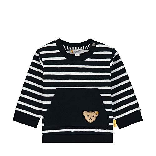 Steiff Baby-Jungen Sweatshirt, Blau (Black Iris 3032), 56 (Herstellergröße: 056)