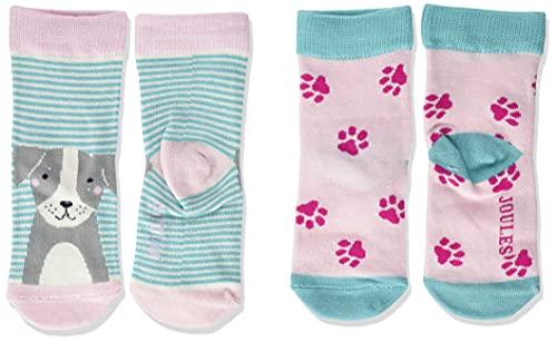 Joules Baby-Mädchen Neat Feet Socken, CATDOGPAW, 12 Monate