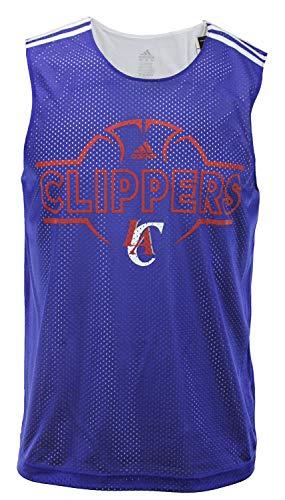 adidas Los Angeles Clippers NBA Mens Hoops Tank Top, Royal Blue