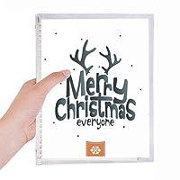メリー・クリスマスのトナカイの漫画のパターン 硬質プラスチックルーズリーフノートノート