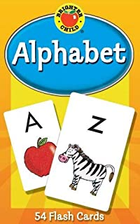 Carson Dellosa - Alphabet Flash Cards - 54 Cards for Toddler Early Learning, Uppercase and Lowercase Letters, ABCs with Bonus Game Card, Ages 4+ (Brighter Child Flash Cards), Packaging may vary.