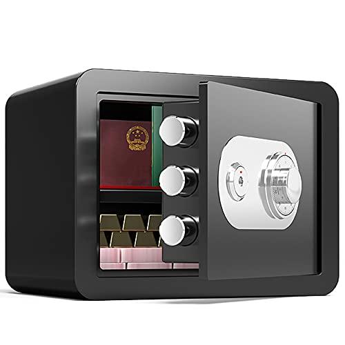 Caja de seguridad de seguridad, contraseña mecánica segura, material de acero de aleación, caja de seguridad de seguridad de alta seguridad/A / 35cm×25cm×25cm
