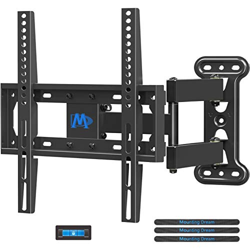 Price comparison product image Mounting Dream UL Certificated TV Mount Full Motion for 26-55 Inch LED, LCD, OLED Flat Screen TV,  Perfect Center Design,  TV Wall Mount Bracket with Articulating Arm up to VESA 400x400mm,  60 lbs,  MD2377