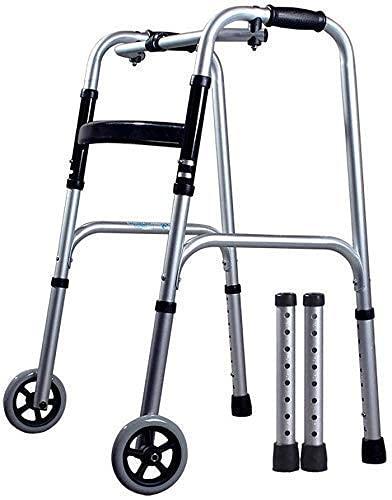 Bastón para Caminar, Silla De Ruedas Caminante De Aluminio para Discapacitados Bastón para Caminar para Personas Mayores, Portátil Plegable con Un Botón (Color: Tablero para Sentarse, Tamaño: No Res