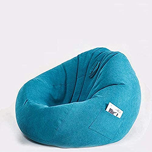 Highback Beanbag, Chair Water Resistant Bean Bags for Indoor and Outdoor Use Great for Gaming Chair and Garden Chair-Blue