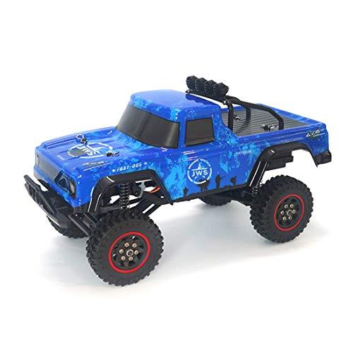 ZHANGYY 1/18 2.4G RC RC Car Crawler Modelo de vehículo de Escalada Camiones de Alta Velocidad Camiones Todoterreno Juguetes Azul