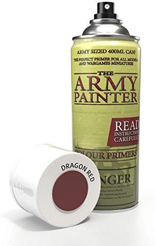 The Army Painter | Colour Primer | Dragon Red | 400ml | Acryl-Spray | Grundierung | für Modellmalerei