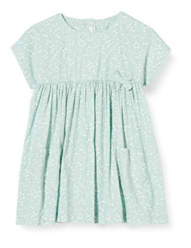United Colors of Benetton Baby-Mädchen Vestito Kleid, Grün (Verde Acqua 61q), 68