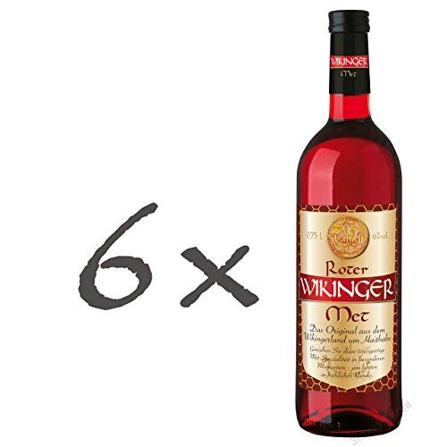 Roter Wikinger Met 6 x 0,75l Honigwein mit Kirschsaft