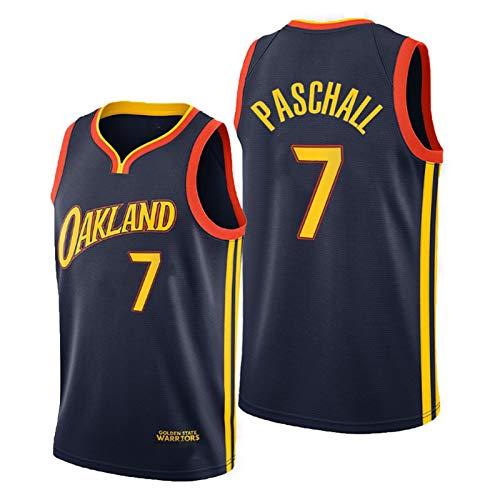 OJN Paschall Jersey para hombre, 2021 New Season Golden State 7# City Edition, camiseta de baloncesto transpirable, camiseta sin mangas (S-XXL) XXL