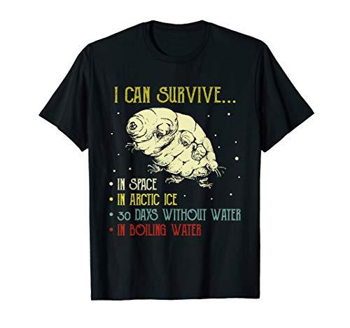 Vintage Science Tardigrade Gift Microbiology Water Bear T-Shirt