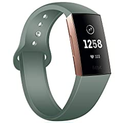 FASHION CLASSIC DESIGN: Classic sport silicone Fitbit Charge 4/Charge 3 bands perfectly design for Fitbit Charge 4/Charge 3/Charge 3 SE Edition Smart Watch. High-quality Fitbit Charge 3 fitness tracker replacement bands that are skin-friendly, soft a...