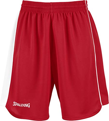 Spalding 4Herii Short Femme, Rouge/Blanc, FR (Taille Fabricant : XXXS)