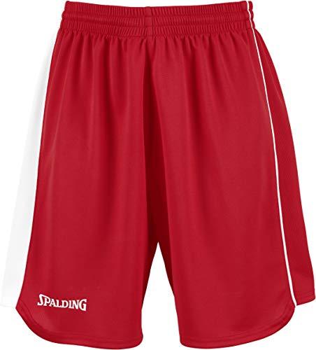 Spalding 4her II Shorts De Equipaciones, Mujer, Rojo/Blanco, XXXS