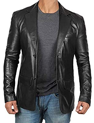 Black Leather Jackets for Men - Sport Coats for Men Jackets Mens [1500566] | Blazer, XXL from