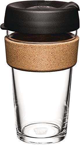 KeepCup BCBLA16 Cork Kork, 473 ml, Schwarz, glas