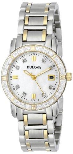 Bulova Women s 98R107 Diamond Accented Calendar Watch