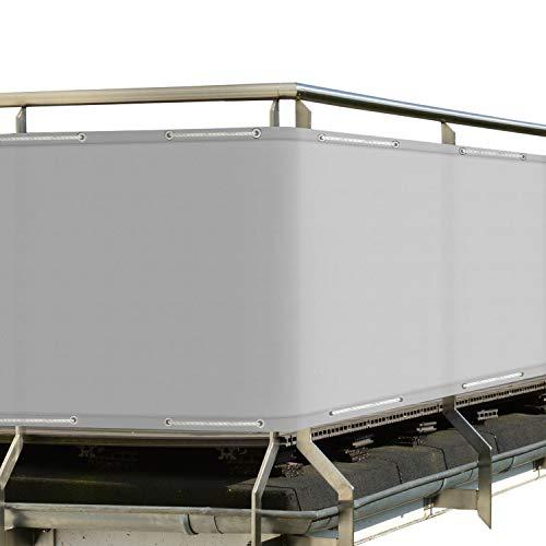 Sol Royal Protección Visual SolVision PB2 PES Pantalla Opaca 300x90 cm Gris balcón privacidad con Ojales Cuerdas