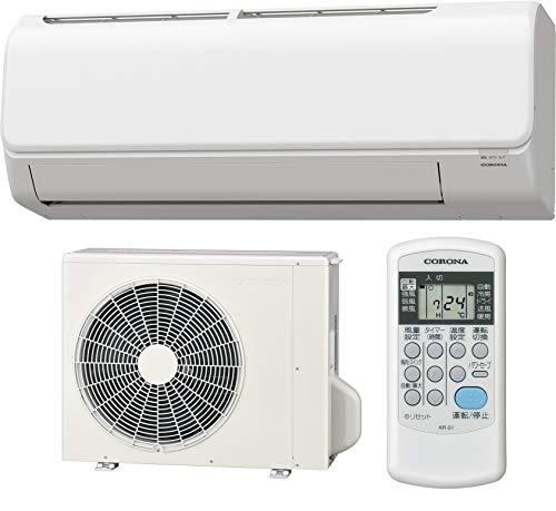 【設置工事費込】 CORONA(コロナ) エアコン工事セット 冷暖房 主に6畳用 室内機室外機セット CSH-N2221R(W) 【AC設置】