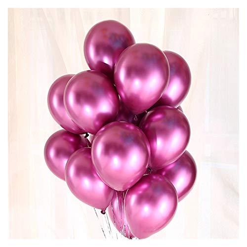 ZHEMAIE Globos de 10 globos de aluminio con confeti de látex botella de vino (color: metal rosa 10)