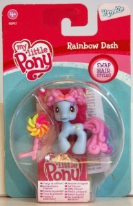 My Little Pony- Mon Petit Poney Figurine - Animaux - PoneyVille Single - Rainbow Dash Change De Coiffure