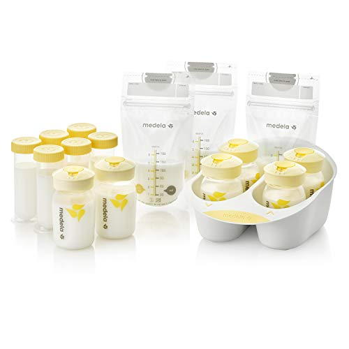 Medela Breast Milk Storage Solution Set, Breastfeeding Supplies & Containers, Breastmilk Organizer, Made Without BPA