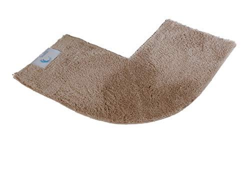 Cazsplash Eck-Duschmatte, Baumwolle, Stone, 47 x 44 x 6.5 cm