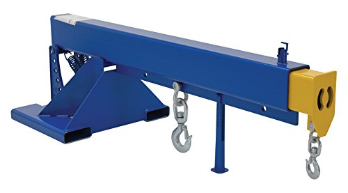 """Vestil LM-OBT-8-24 Orbit Telescoping Lift Boom, 8000 lb Capacity, 24"""" Fork Pocket Center, Overall LxWxH (in.) 32 x 85.25 x 28.875, Overall Extended Length (in.) 145-1/4, Blue"""