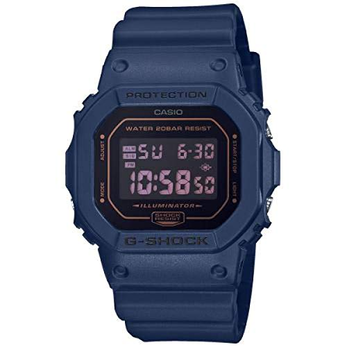 CASIO Herren Digital Quarz Uhr mit Resin Armband DW-5600BBM-2ER